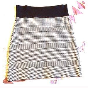 BCBG black & white power skirt